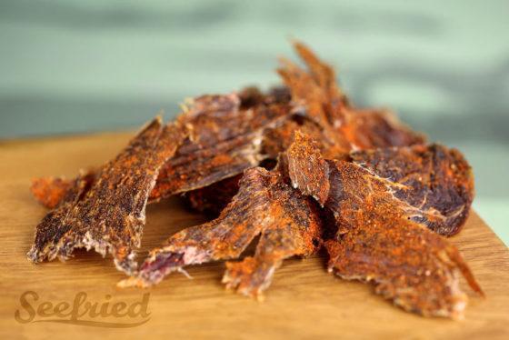 Beef Jerky vom Weiderind pikant gewürzt