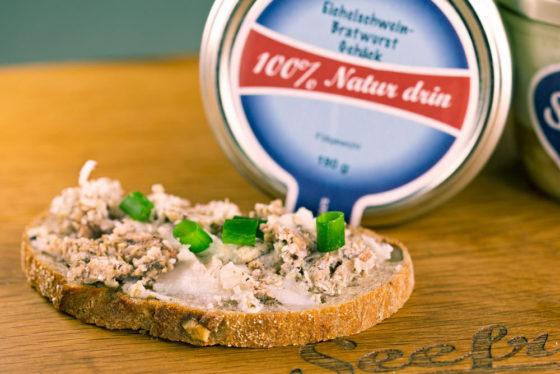 Eichelweideschwein-Bratwurstgehäckbrot