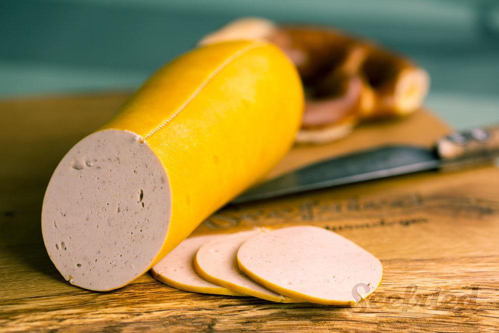 Gelbwurst aufgeschnitten