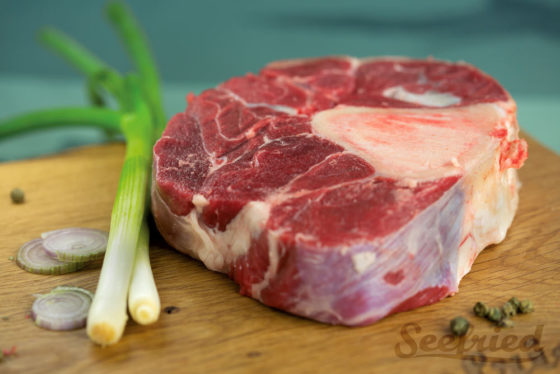 Rinderbeinscheibe küchenfertig zugeschnitten