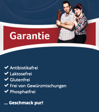 Garantie der Metzgerei Seefried
