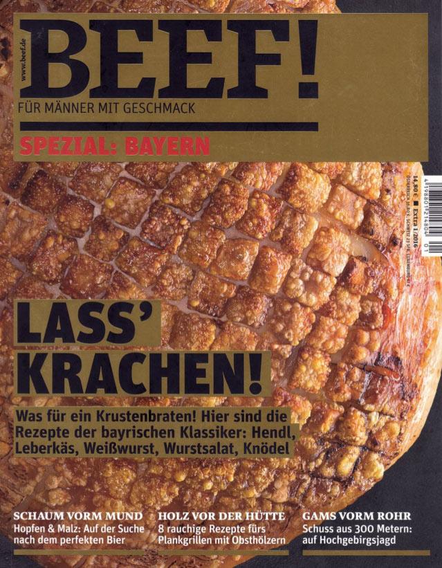 Cover der Zeitschrift Beef mit Artikel über Metzgerei Seefried
