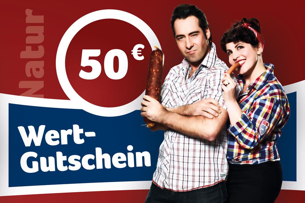Gutschein vom Naturmetzger im Wert von 50 Euro