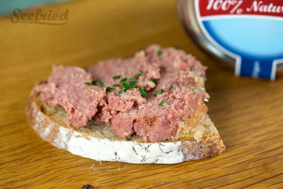 Brot mit deutschem Corned Beef
