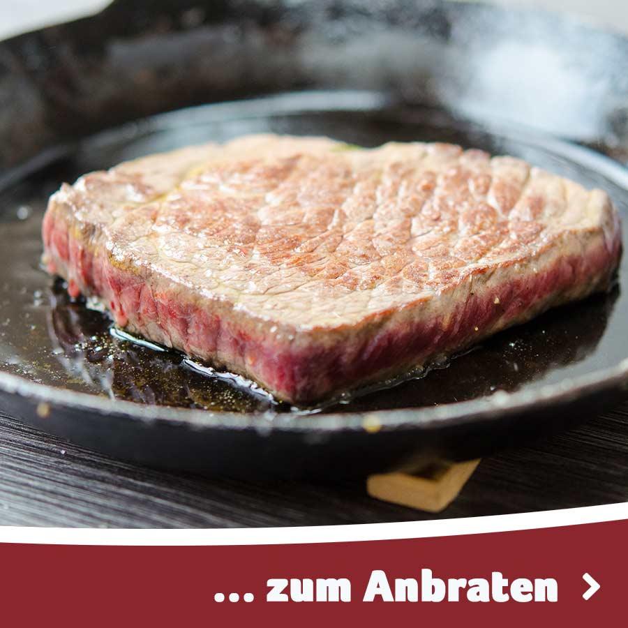 Fleisch / Wurst zum Anbraten in der Pfanne