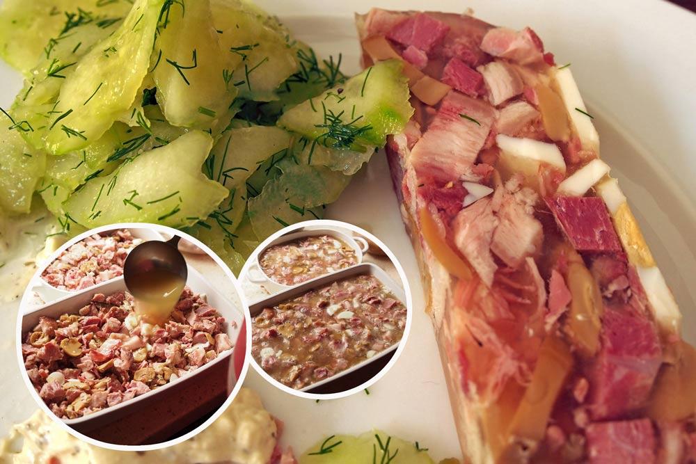 Sülze kochen ohne Gelatine