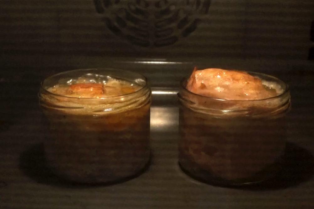 Leberkaese wird im Ofen gebacken - 5 Min