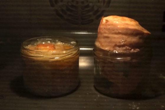Leberkaese wird im Ofen gebacken - 10 Min