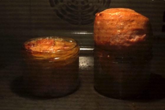 Leberkaese wird im Ofen gebacken - 20 Min