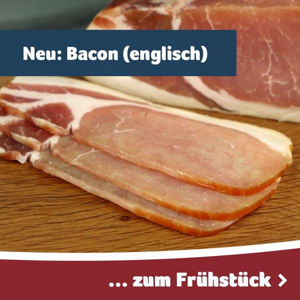 Bacon englische Art zum Frühstück