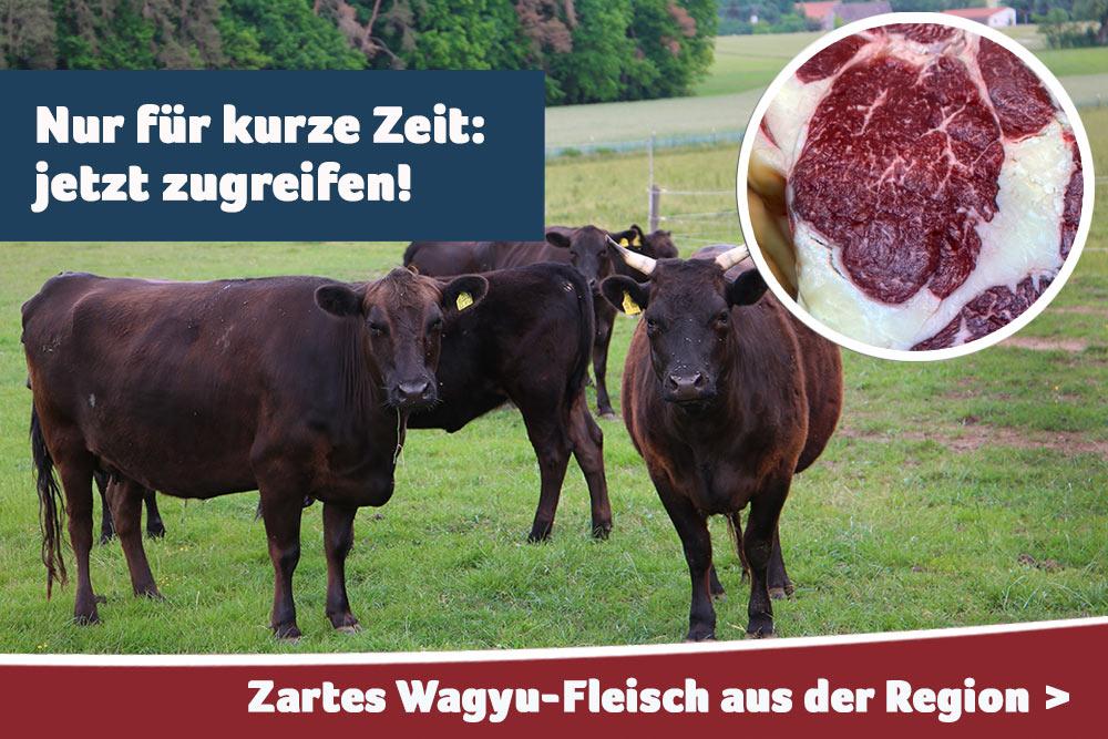Zartes Wagyu-Fleisch aus der Region